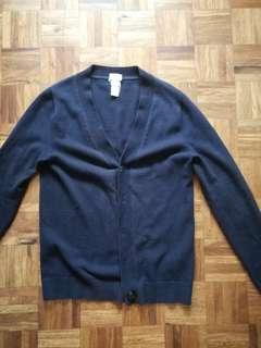 H&M Navy Blue Cardigan - Men's Sz XS