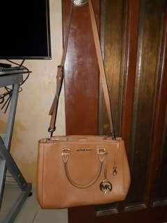 MK Sutton Saffiano Satchel Bag