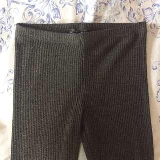 Forever 21 Ribbed Leggings with Ankle Buttons