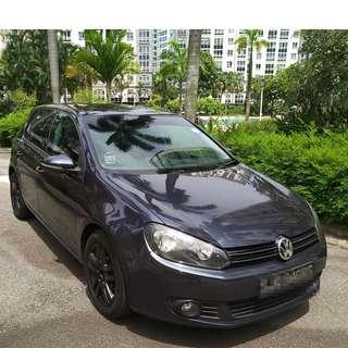 VOLKSWAGEN NEW GOLF - CONTINENTAL HANDLING, SOLID, COMPACT & SPORTY, POWERFUL ENGINE GRAB/RYDEX/GOJEK READY!
