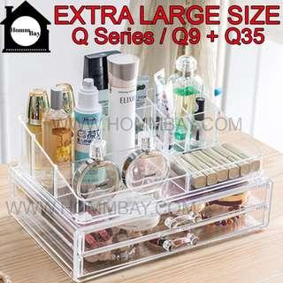 Makeup Make up Acrylic Clear Transparent Lipstick Cosmetic Brush Brushes Jewellery Jewelry Earrings Bracelets Rings Organiser Organizer Drawer Storage Box Holder I Extra Large