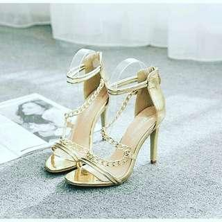 Ladies sandals stelitto strapped heels shoes