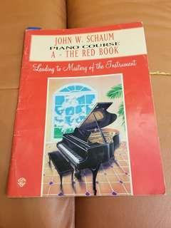 John W. Schaum Piano Course A-The red book