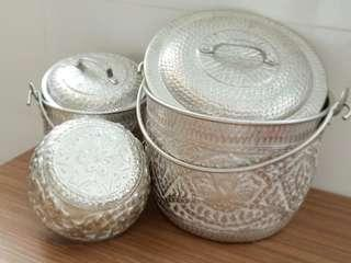 Silvet pots from Thailand