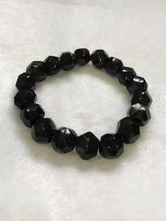 Amber bracelet, black color, Myanmar Origin