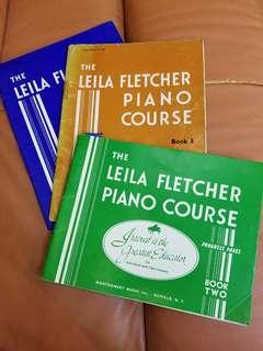 The Leila Fletcher Piano Course book two three four  綱琴書