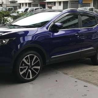 Nissan Qashqai 2014-2018 Door Visor