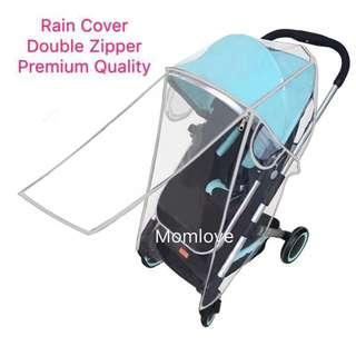 Ready Stock ! Brand New Rain Cover For Stroller with Double Zipper
