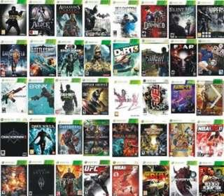 Xbox 360 Games All At $20