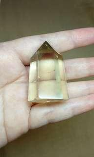 Citrine Gemstone Point Crystal Polished tower 42g