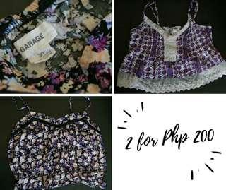 Crop Tops • 2 for Php 200 • Garage
