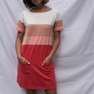 JCREW Multi Color Shirt Dress