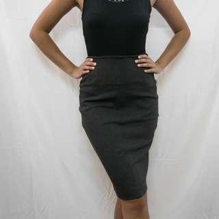 ZARA Basic Gray Pencil Skirt