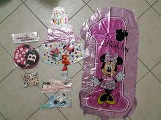 Minnie & Minnie party deco (all)