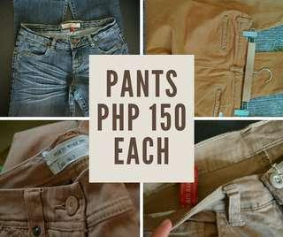 Pants, Jeans for Php 150 each