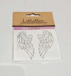 Lolitattoo Temporary Tattoo Wings/ Sayap