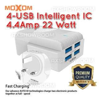 Intelligent 4 USB ports 3 pin charger and Cable set
