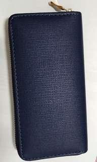 Ladies Long Wallet (Navy Blue)