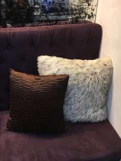 Fur pillow case