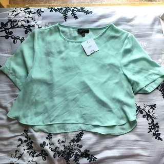 Topshop Mint colour crop top