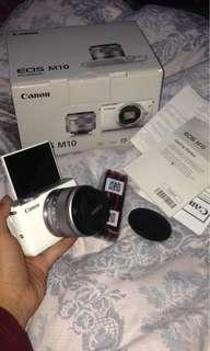 Kamera mirrorless canon m10 like new FULLSET