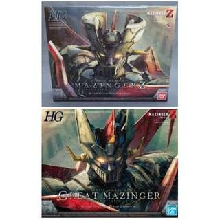 Bandai hg 1/144 鐵甲萬能俠 Mazinger Z 模型 1號2號 2盒