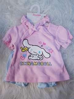 Sanrio Cinnamoroll 3pc Baby Set