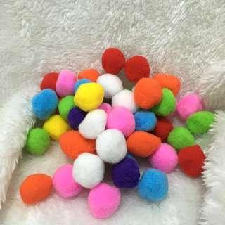50pcs Assorted Colors Pom Balls in 40mm size