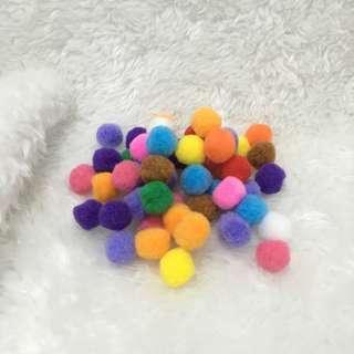 50pcs Assorted Colors Pom Balls in 20mm