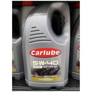 Carlube 5w40 Fully Synth 5L with Free Oil Treatment on Offer!