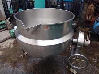 Jacketed kettle tilt