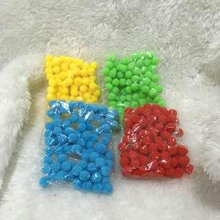 RBGY Pom Balls in 10mm size