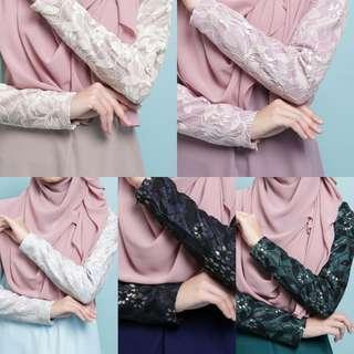 ARIANA LACE DRESS jubbah jubah bridesmaid blouse top peplum arianna abaya abayah