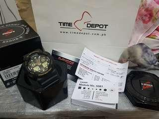 G-Shock Black and Gold Watch