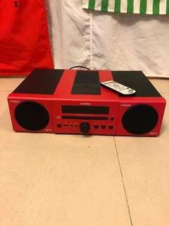 日本Yamaha MCR-040/140 音響組合 可駁 iPod 絕版紅色型號 Hifi 通利行貨