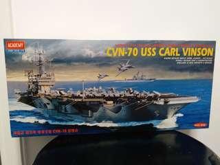 戰艦模型 CVN-70 USS CARL VINSON 1/800TH Plastic Model Kit