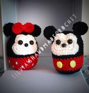 🎄 Crochet Tsum Tsum Disney  Mickey & Miinnie