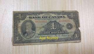 Rare Canada 1 Dollar King George V