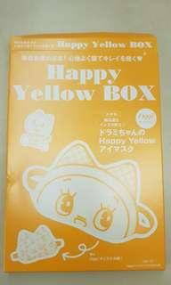 Happy yellow box sleep mask