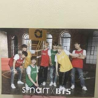 smart x bts official postcard