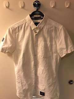 Superdry 全白shirt