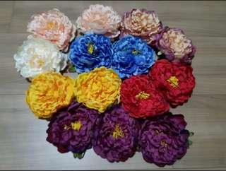 12 Pieces Large Artificial  Peony Flower Heads