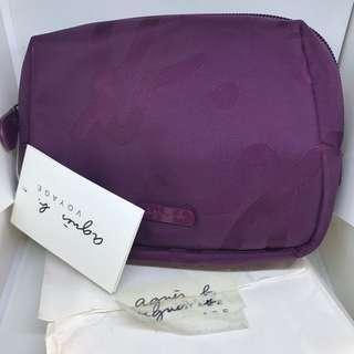 Agnes b makeup pouch bag