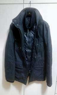 Black cotton jacket夾棉黑外套