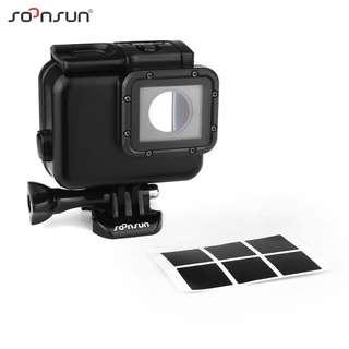 🚚 SOONSUN 40M Blackout Underwater Diving Waterproof Housing Case with Touch Backdoor for GoPro HERO 7 BLACK / 6 / 5 / 2018 Camera Accessories (NEED TO REMOVE LENS)