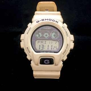 Vintage CASIO G-SHOCK Tough Solar G-6900A Shock Resist White Band Men's Watch