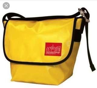 manhattan portage黃色 斜孭袋