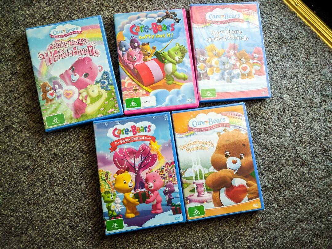 5 x Carebear dvds new 4 sealed in plastic, 1 didn't come sealed but new