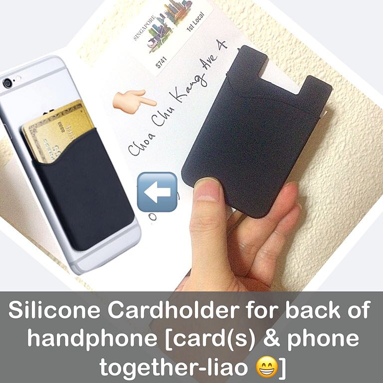 Http Carousell Com P 119403435 Silicone Cardholder For Handphone Handphone Mobile Phone Card Holder Pouch Practical Gifts Uncle Anthony