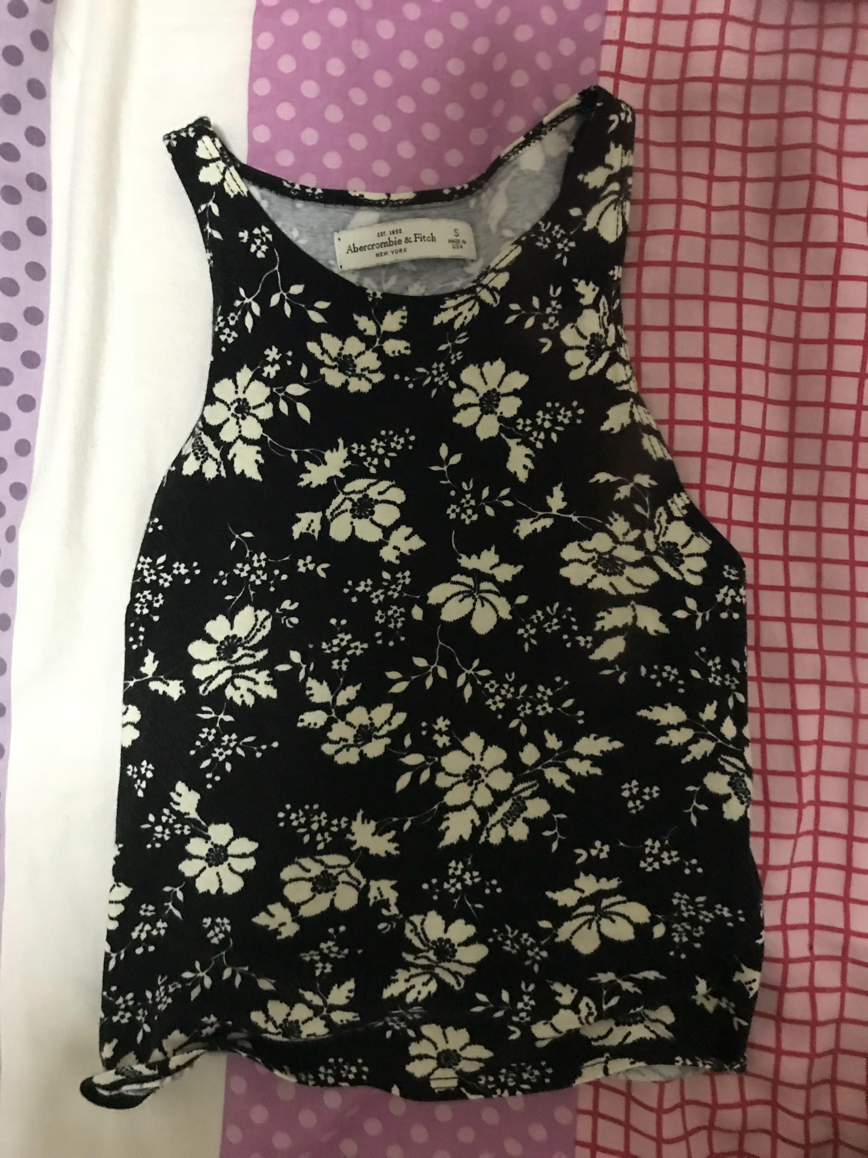 Abercrombie floral tank top